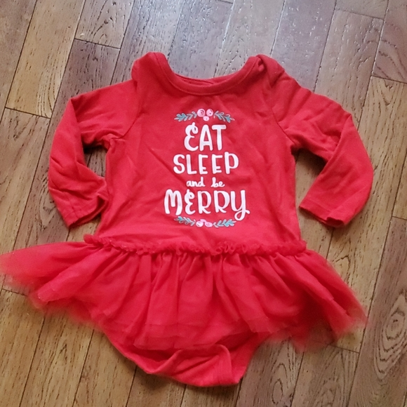 Cat & Jack Other - Eat, sleep and be merry onesie!